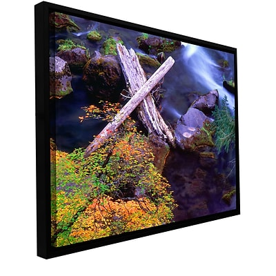 ArtWall Rogue River Falls Gallery-Wrapped Canvas 18 x 24 Floater-Framed (0uhl137a1824f)
