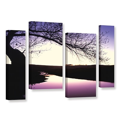 ArtWall Squaw Valley Twilight 4-Piece Gallery-Wrapped Canvas Staggered Set 24 x 36 (0uhl139i2436w)