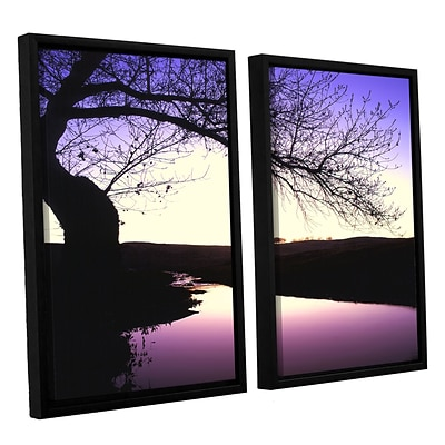 ArtWall squaw Valley Twilight 2-Piece Canvas Set 24 x 32 Floater-Framed (0uhl139b2432f)