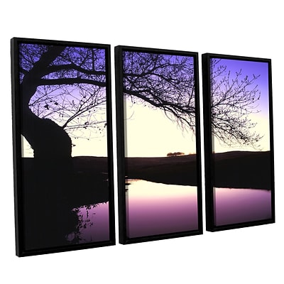 ArtWall squaw Valley Twilight 3-Piece Canvas Set 36 x 54 Floater-Framed (0uhl139c3654f)