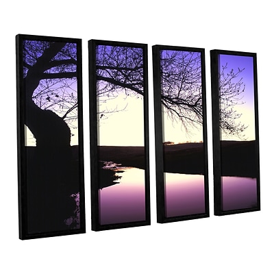 ArtWall Squaw Valley Twilight 4-Piece Canvas Set 24 x 32 Floater-Framed (0uhl139d2432f)
