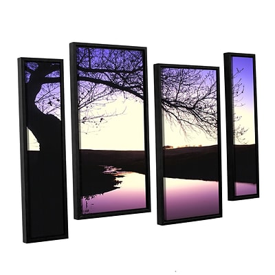 ArtWall squaw Valley Twilight 4-Piece Canvas Staggered Set 36 x 54 Floater-Framed (0uhl139i3654f)