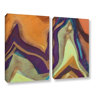 ArtWall Arrt Attack 2-Piece Gallery-Wrapped Canvas Set 36 x 48 (0uhl147b3648w)