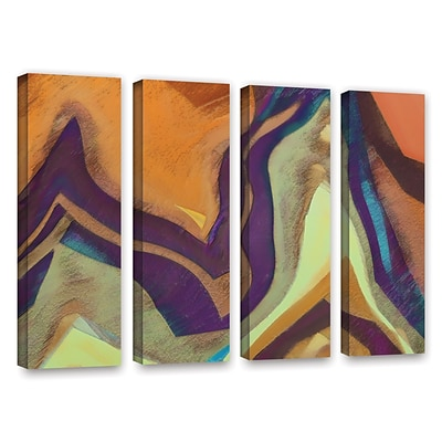 ArtWall Arrt Attack 4-Piece Gallery-Wrapped Canvas Set 24 x 32 (0uhl147d2432w)