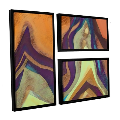 ArtWall Arrt Attack 3-Piece Canvas Flag Set 36 x 48 Floater-Framed (0uhl147g3648f)