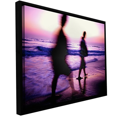 ArtWall Beach Combers Gallery-Wrapped Canvas 24 x 32 Floater-Framed (0uhl148a2432f)