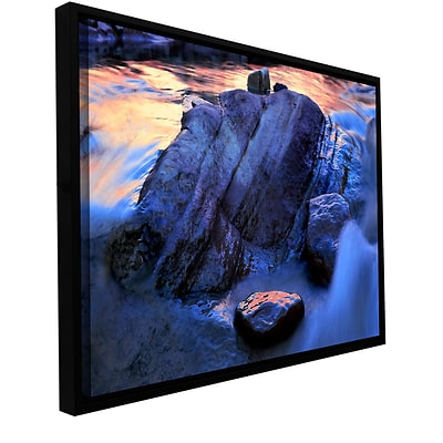 ArtWall Canyon Colours Gallery-Wrapped Canvas 14 x 18 Floater-Framed (0uhl152a1418f)