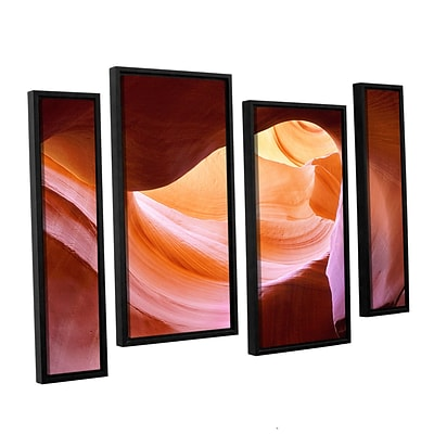 ArtWall Canyon Of The Navajo 4-Piece Canvas Staggered Set 36 x 54 Floater-Framed (0uhl153i3654f)