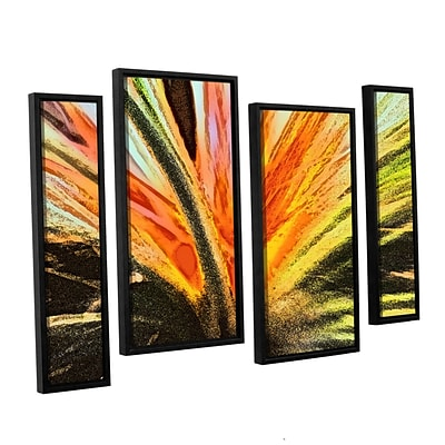 ArtWall Christmas Cactus 4-Piece Canvas Staggered Set 24 x 36 Floater-Framed (0uhl154i2436f)