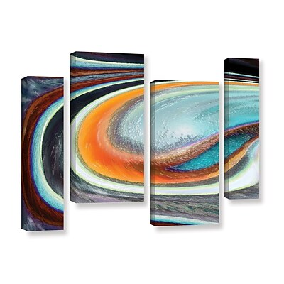 ArtWall Currents 4-Piece Gallery-Wrapped Canvas Staggered Set 36 x 54 (0uhl155i3654w)