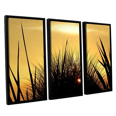 ArtWall Deep In July 3-Piece Canvas Set 36 x 54 Floater Framed (0uhl156c3654f)