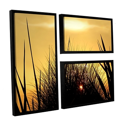 ArtWall Deep In July 3-Piece Canvas Flag Set 36 x 48 Floater-Framed (0uhl156g3648f)