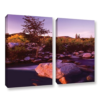 ArtWall Deer Creek Evening 2-Piece Gallery-Wrapped Canvas Set 36 x 48 (0uhl157b3648w)
