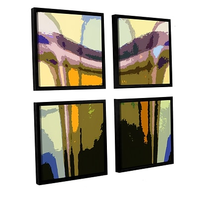 ArtWall Earth To Heaven 4-Piece Canvas Square Set 48 x 48 Floater Framed (0uhl159e4848f)