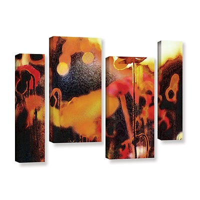 ArtWall Garden Enchanted 4-Piece Gallery-Wrapped Canvas Staggered Set 24 x 36 (0uhl161i2436w)