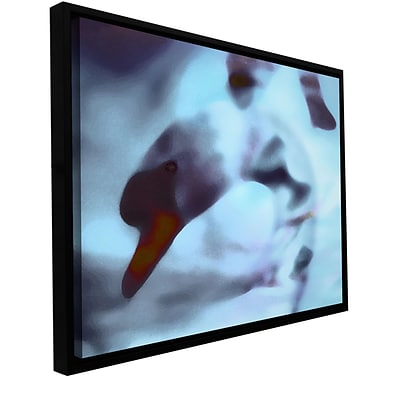 ArtWall swan Impression Gallery-Wrapped Canvas 18 x 24 Floater-Framed (0uhl171a1824f)
