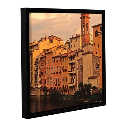 ArtWall Florence Charm Gallery-Wrapped Canvas 14 x 14 Floater-Framed (0yat070a1414f)