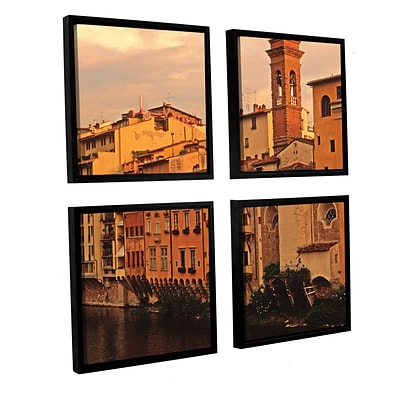 ArtWall Florence Charm 4-Piece Canvas Square Set 48 x 48 Floater-Framed (0yat070e4848f)