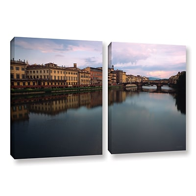 ArtWall Florence Memories 2-Piece Gallery-Wrapped Canvas Set 32 x 48 (0yat071b3248w)