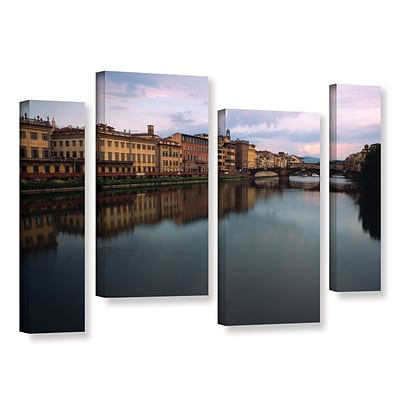 ArtWall Florence Memories 4-Piece Gallery-Wrapped Canvas Staggered Set 36 x 54 (0yat071i3654w)