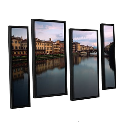 ArtWall Florence Memories 4-Piece Canvas Staggered Set 36 x 54 Floater Framed (0yat071i3654f)