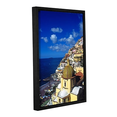 ArtWall Picturesque Positano Gallery-Wrapped Canvas 24 x 36 Floater-Framed (0yat074a2436f)