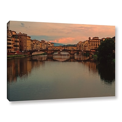 ArtWall Ponte Vecchio Reflect Gallery-Wrapped Canvas 24 x 36 (0yat076a2436w)