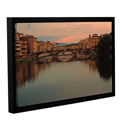 ArtWall Ponte Vecchio Reflect Gallery-Wrapped Canvas 16 x 24 Floater-Framed (0yat076a1624f)