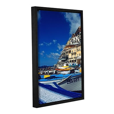 ArtWall PositanoS Colorful Boats Gallery-Wrapped Canvas 24 x 36 Floater-Framed (0yat077a2436f)