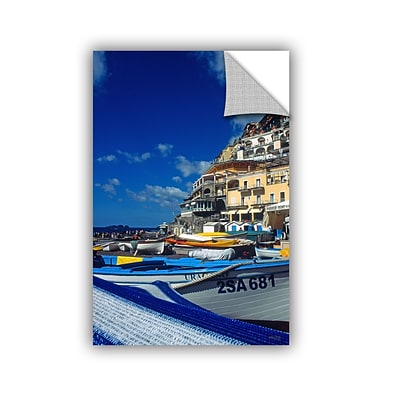 ArtWall PositanoS Colorful Boats Art Appeelz Removable Wall Art Graphic 32 x 48 (0yat077a3248p)