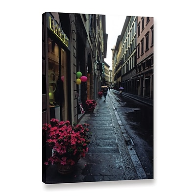 ArtWall Rainy Day In Florence Gallery-Wrapped Canvas 12 x 18 (0yat078a1218w)