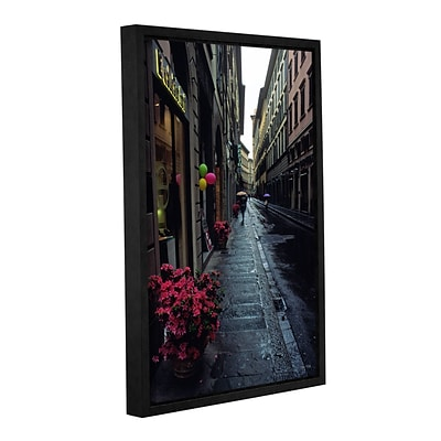 ArtWall Rainy Day In Florence Gallery-Wrapped Canvas 12 x 18 Floater-Framed (0yat078a1218f)