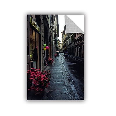 ArtWall Rainy Day In Florence Art Appeelz Removable Wall Art Graphic 24 x 36 (0yat078a2436p)