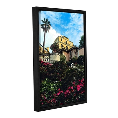 ArtWall spanish Steps In Rome Gallery-Wrapped Canvas 24 x 36 Floater-Framed (0yat079a2436f)