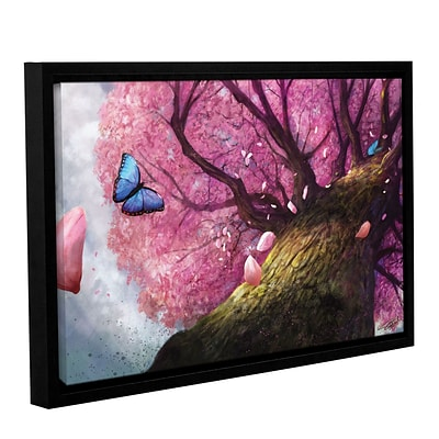 ArtWall In The Shadow Of Peace Gallery-Wrapped Canvas 24 x 36 Floater-Framed (0goa004a2436f)