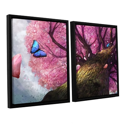 ArtWall In The Shadow Of Peace 2-Piece Canvas Set 32 x 48 Floater-Framed (0goa004b3248f)