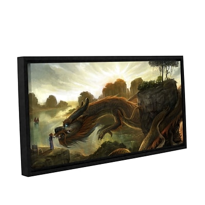ArtWall Rise Gallery-Wrapped Canvas 12 x 24 Floater-Framed (0goa014a1224f)