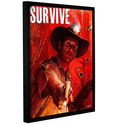 ArtWall Survive Gallery-Wrapped Canvas 14 x 18 Floater-Framed (0goa019a1418f)
