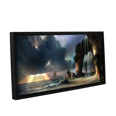 ArtWall The Beach Gallery-Wrapped Canvas 24 x 48 Floater-Framed (0goa021a2448f)