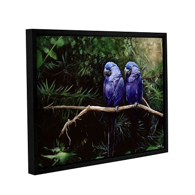 ArtWall Twins Gallery-Wrapped Canvas 18 x 24 Floater-Framed (0goa027a1824f)