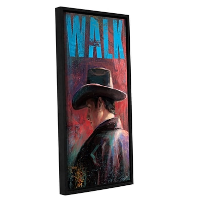 ArtWall Walk Gallery-Wrapped Canvas 12 x 24 Floater-Framed (0goa030a1224f)