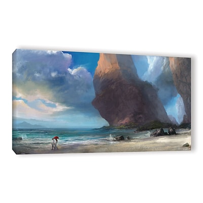 ArtWall Walk On The Beach Gallery-Wrapped Canvas 24 x 48 (0goa031a2448w)