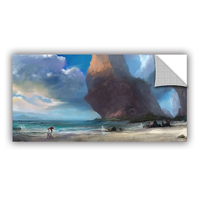 ArtWall Walk On The Beach Removable Graphic Wall Art 24 x 48 (0goa031a2448p)