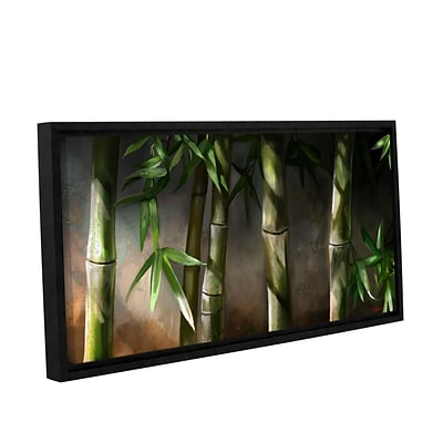 ArtWall Bamboo Gallery-Wrapped Canvas 18 x 36 Floater-Framed (0goa037a1836f)