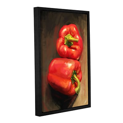 ArtWall Bell Peppers Gallery-Wrapped Canvas 24 x 36 Floater-Framed (0goa039a2436f)
