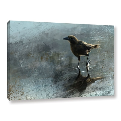 ArtWall Bird In A Puddle Gallery-Wrapped Canvas 12 x 18 (0goa041a1218w)