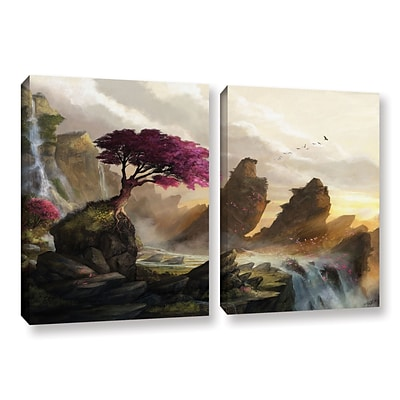 ArtWall Blossom Sunset 2-Piece Gallery-Wrapped Canvas Set 18 x 28 (0goa042b1828w)