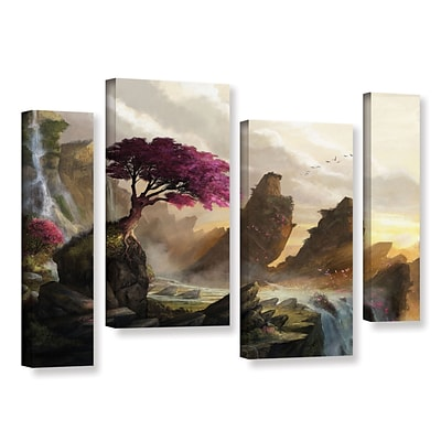 ArtWall Blossom Sunset 4-Piece Gallery-Wrapped Canvas Staggered Set 24 x 36 (0goa042i2436w)