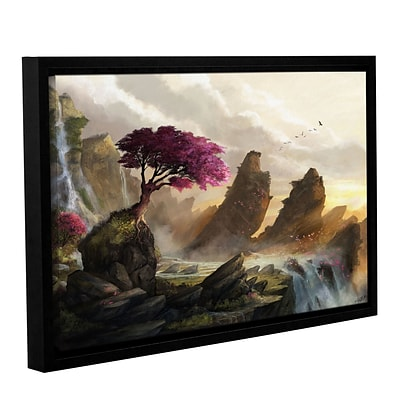 ArtWall Blossom Sunset Gallery-Wrapped Canvas 12 x 18 Floater-Framed (0goa042a1218f)