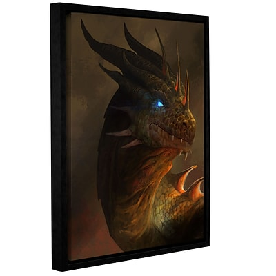 ArtWall Dragon Portrait Gallery-Wrapped Canvas 14 x 18 Floater-Framed (0goa054a1418f)
